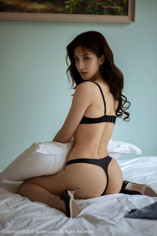 [XiuRen] Vol.1901 Lin Wen Wen 41P, Black Silk, Lin Wen Wen, Tall, Underwear, Xiuren