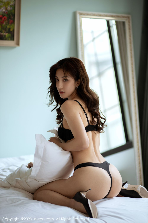 [XiuRen] Vol.1901 Lin Wen Wen 43P, Black Silk, Lin Wen Wen, Tall, Underwear, Xiuren