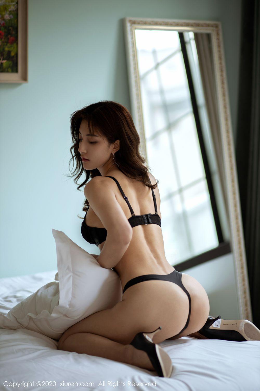 [XiuRen] Vol.1901 Lin Wen Wen 44P, Black Silk, Lin Wen Wen, Tall, Underwear, Xiuren