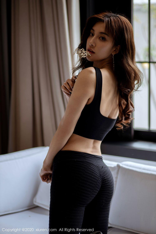 [XiuRen] Vol.1901 Lin Wen Wen 46P, Black Silk, Lin Wen Wen, Tall, Underwear, Xiuren