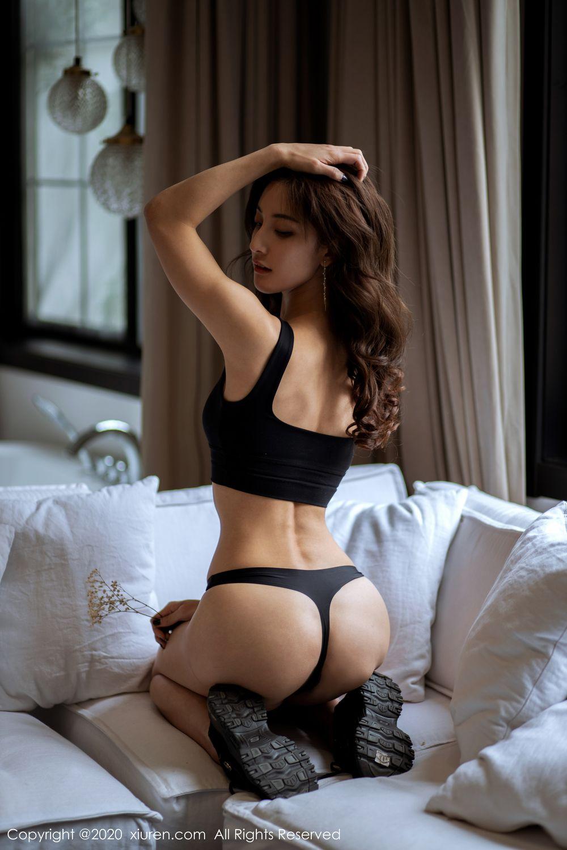[XiuRen] Vol.1901 Lin Wen Wen 52P, Black Silk, Lin Wen Wen, Tall, Underwear, Xiuren