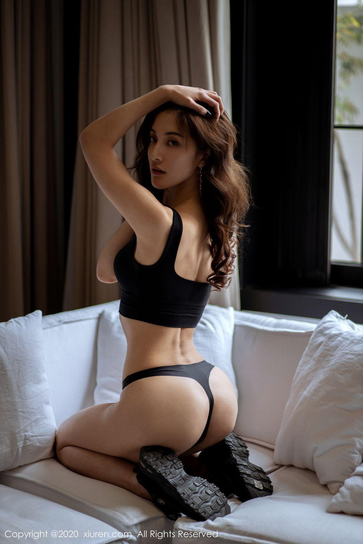 [XiuRen] Vol.1901 Lin Wen Wen 55P, Black Silk, Lin Wen Wen, Tall, Underwear, Xiuren