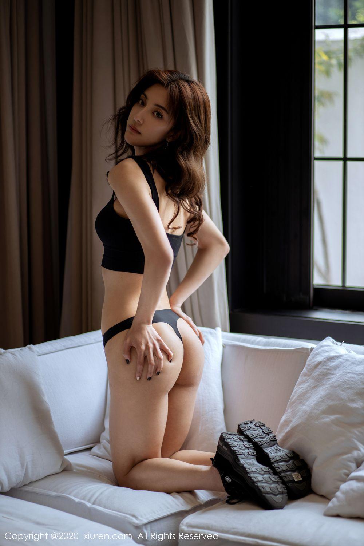 [XiuRen] Vol.1901 Lin Wen Wen 56P, Black Silk, Lin Wen Wen, Tall, Underwear, Xiuren