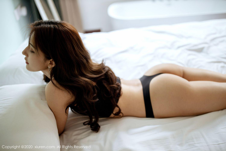 [XiuRen] Vol.1901 Lin Wen Wen 60P, Black Silk, Lin Wen Wen, Tall, Underwear, Xiuren