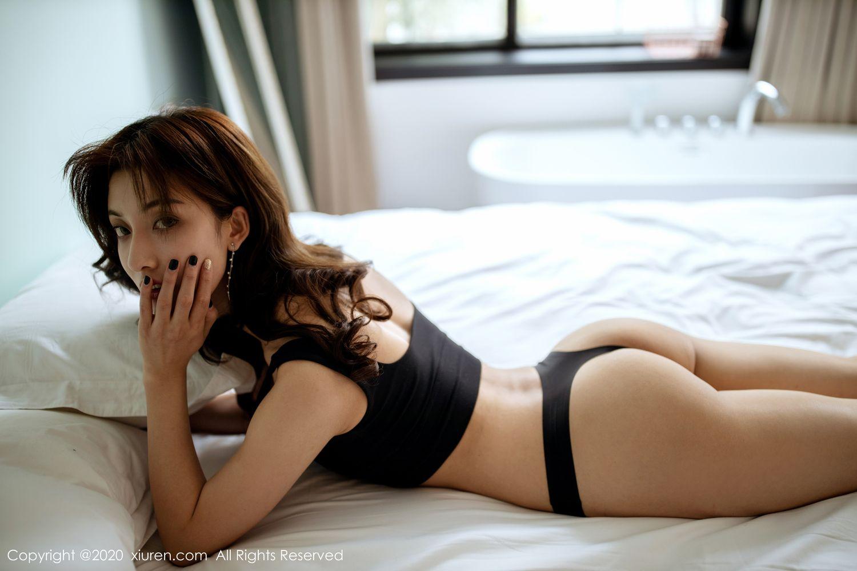 [XiuRen] Vol.1901 Lin Wen Wen 63P, Black Silk, Lin Wen Wen, Tall, Underwear, Xiuren