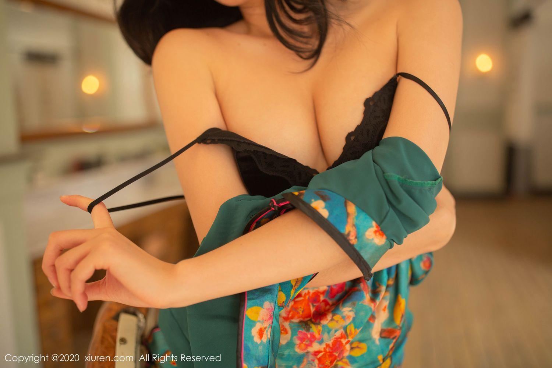 [XiuRen] Vol.1903 Jiu Shi A Zhu 56P, Black Silk, Cheongsam, Jiu Shi A Zhu, Tall, Underwear, Xiuren