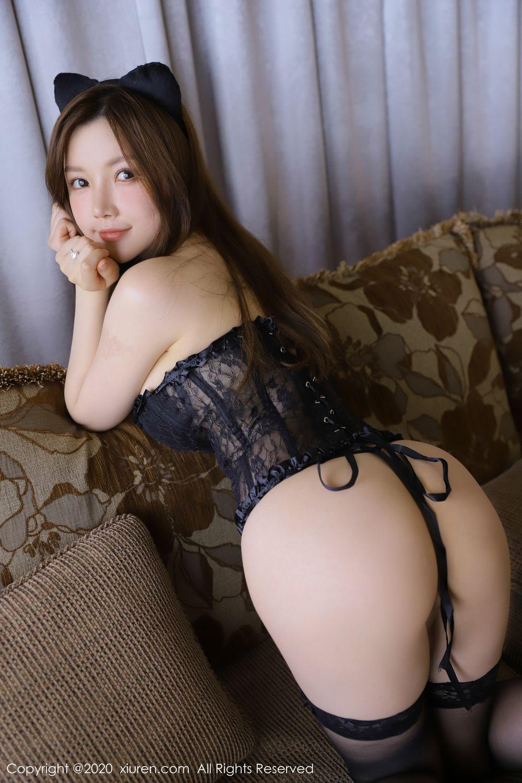 [XiuRen] Vol.1918 Mi Ni Da Meng Meng 6P, Black Silk, Mini Da Meng Meng, Underwear, Xiuren
