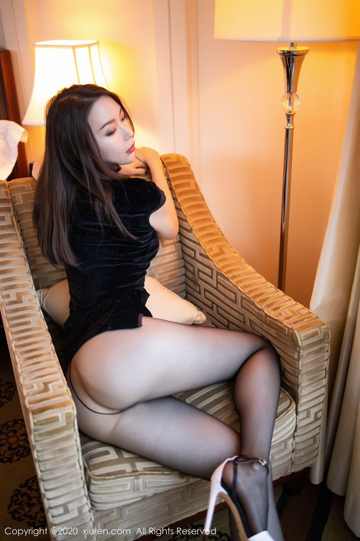 [XiuRen] Vol.1940 Meng Xin Yue 15P, Black Silk, Meng Xin Yue, Tall, Underwear, Xiuren