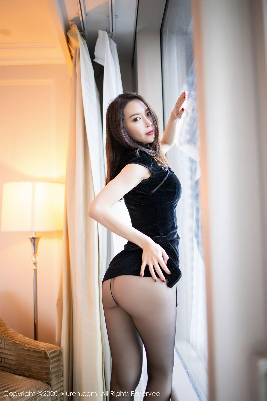 [XiuRen] Vol.1940 Meng Xin Yue 7P, Black Silk, Meng Xin Yue, Tall, Underwear, Xiuren
