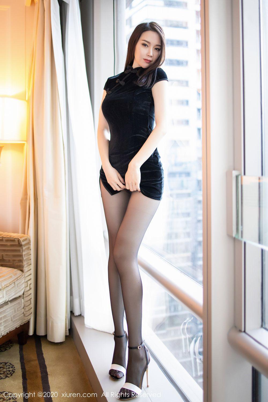 [XiuRen] Vol.1940 Meng Xin Yue 8P, Black Silk, Meng Xin Yue, Tall, Underwear, Xiuren