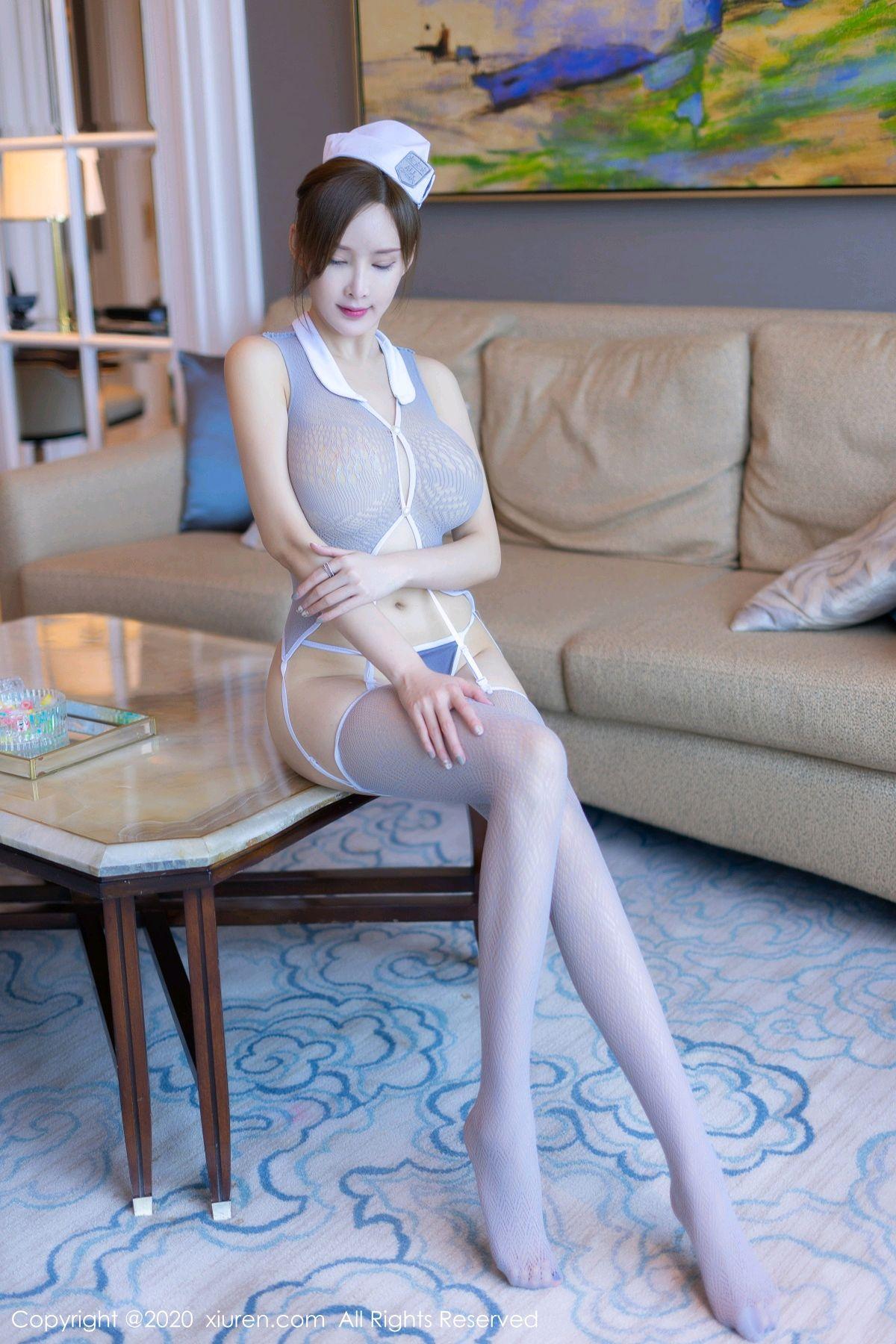 [XiuRen] Vol.1943 Nai Ping Tu Fei Yuan 6P, Tall, Xiuren, Zhou Yan Xi