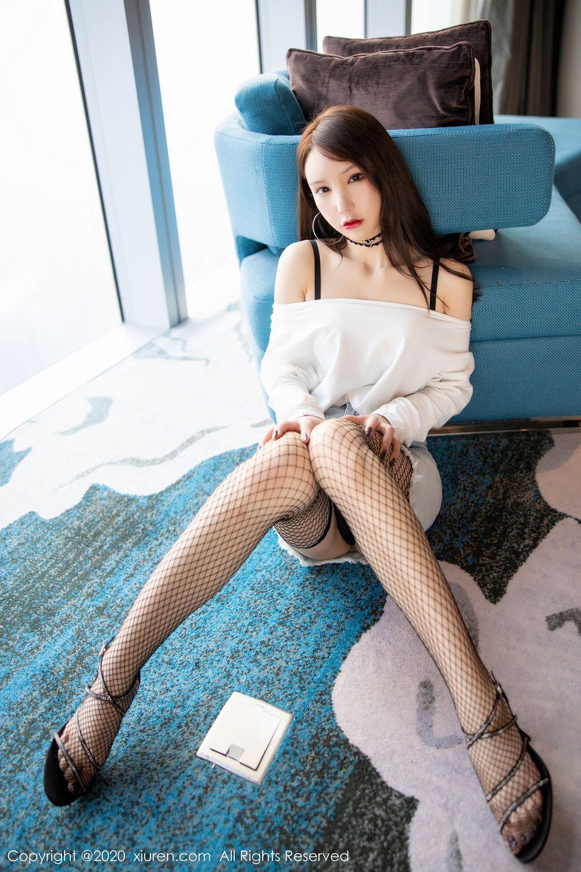 [XiuRen] Vol.1953 Zhou Yu Xi 20P, Black Silk, Underwear, Xiuren, Zhou Yu Xi