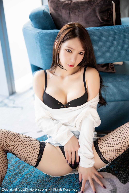 [XiuRen] Vol.1953 Zhou Yu Xi 23P, Black Silk, Underwear, Xiuren, Zhou Yu Xi