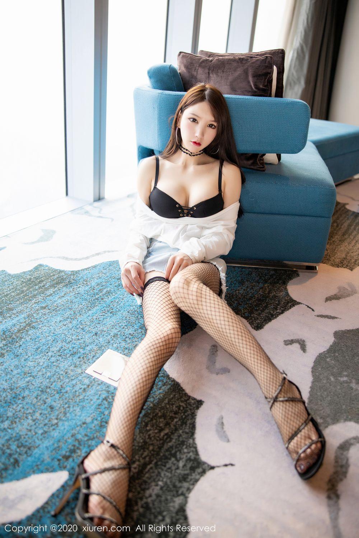 [XiuRen] Vol.1953 Zhou Yu Xi 28P, Black Silk, Underwear, Xiuren, Zhou Yu Xi
