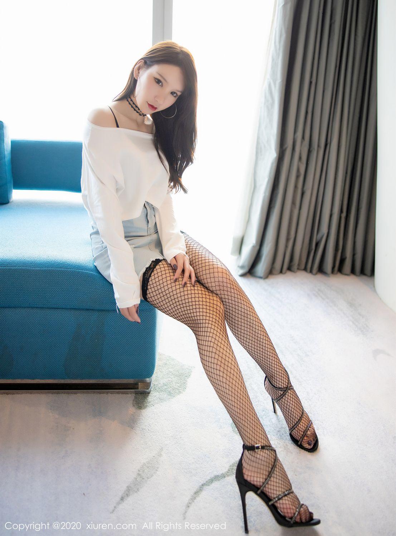 [XiuRen] Vol.1953 Zhou Yu Xi 2P, Black Silk, Underwear, Xiuren, Zhou Yu Xi