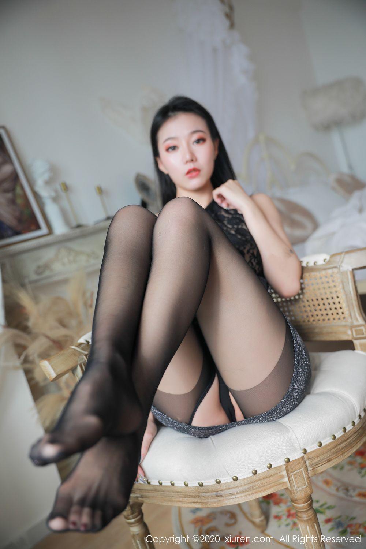 [XiuRen] Vol.1957 anran 11P, Black Silk, Underwear, Xiuren, Yunduoer