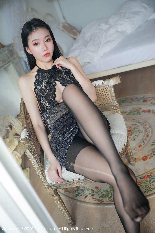 [XiuRen] Vol.1957 anran 15P, Black Silk, Underwear, Xiuren, Yunduoer