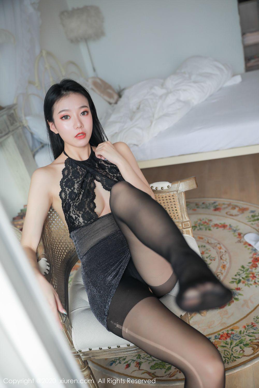 [XiuRen] Vol.1957 anran 16P, Black Silk, Underwear, Xiuren, Yunduoer