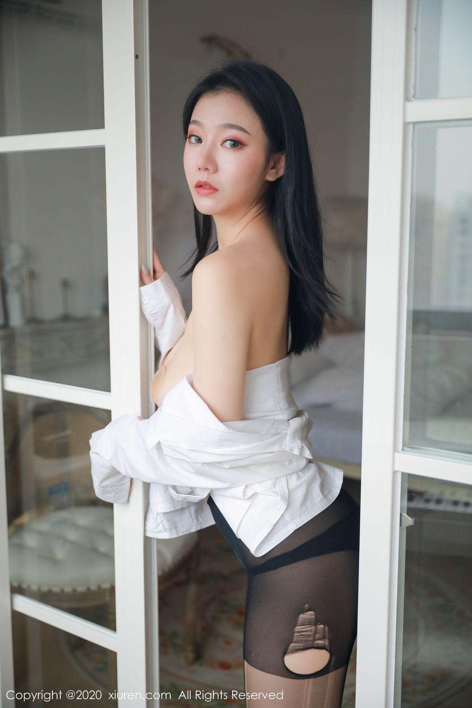 [XiuRen] Vol.1957 anran 1P, Black Silk, Underwear, Xiuren, Yunduoer