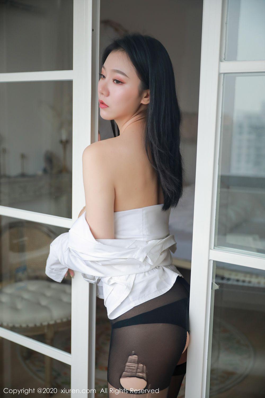 [XiuRen] Vol.1957 anran 2P, Black Silk, Underwear, Xiuren, Yunduoer