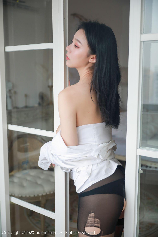 [XiuRen] Vol.1957 anran 3P, Black Silk, Underwear, Xiuren, Yunduoer