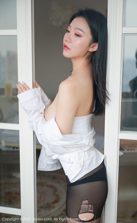 [XiuRen] Vol.1957 anran 5P, Black Silk, Underwear, Xiuren, Yunduoer