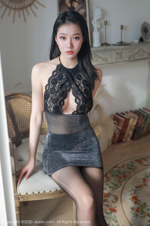 [XiuRen] Vol.1957 anran 7P, Black Silk, Underwear, Xiuren, Yunduoer