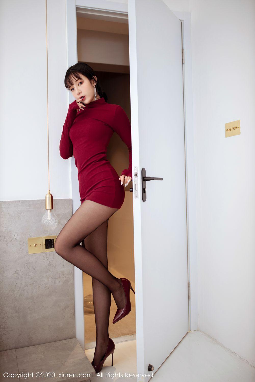 [XiuRen] Vol.1968 Chen Xiao Miao 16P, Black Silk, Chen Xiao Miao, Tall, Xiuren