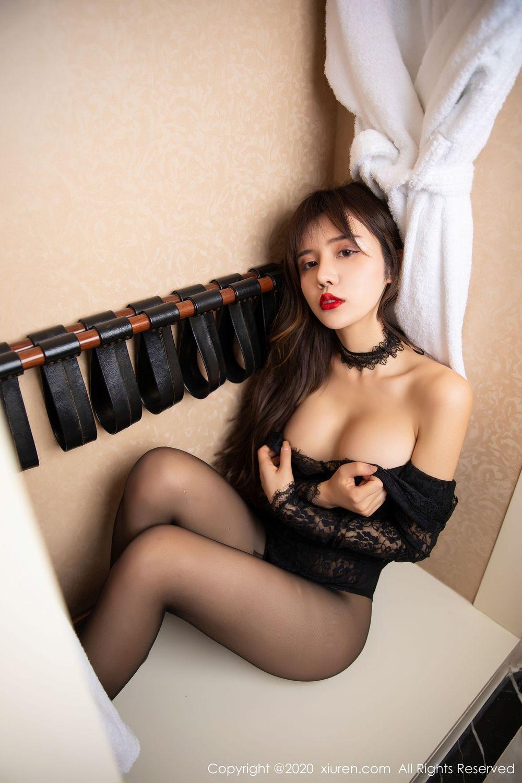 [XiuRen] Vol.1971 Zhuo Ya Qi 26P, Black Silk, Cheongsam, Xiuren, Zhuo Ya Qi