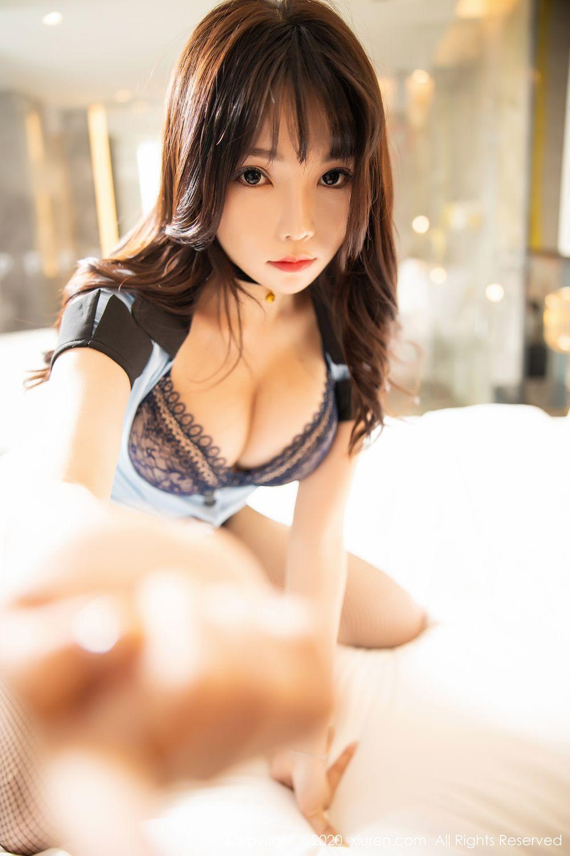 [XiuRen] Vol.1982 Zhi Zhi Booty 63P, Black Silk, Chen Zhi, Policewoman, Uniform, Xiuren
