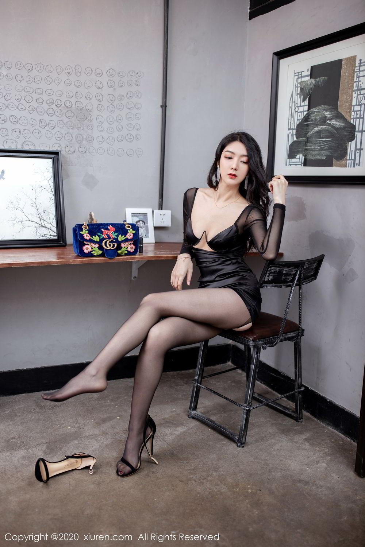 [XiuRen] Vol.1999 Xiao Re Ba 11P, Black Silk, Di Yi, Underwear, Xiuren