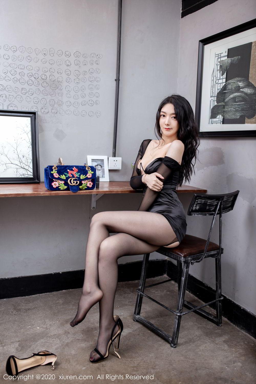 [XiuRen] Vol.1999 Xiao Re Ba 12P, Black Silk, Di Yi, Underwear, Xiuren