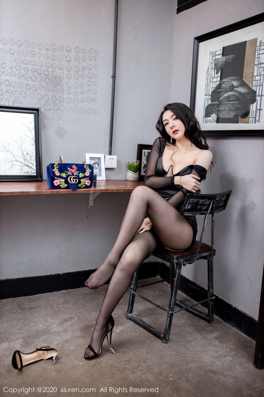 [XiuRen] Vol.1999 Xiao Re Ba 13P, Black Silk, Di Yi, Underwear, Xiuren