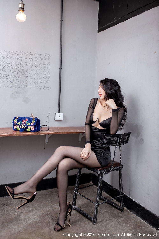 [XiuRen] Vol.1999 Xiao Re Ba 28P, Black Silk, Di Yi, Underwear, Xiuren