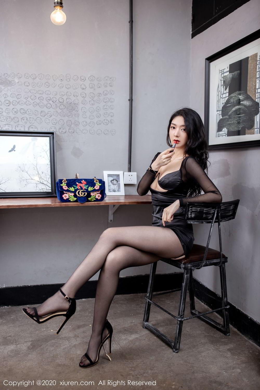 [XiuRen] Vol.1999 Xiao Re Ba 2P, Black Silk, Di Yi, Underwear, Xiuren