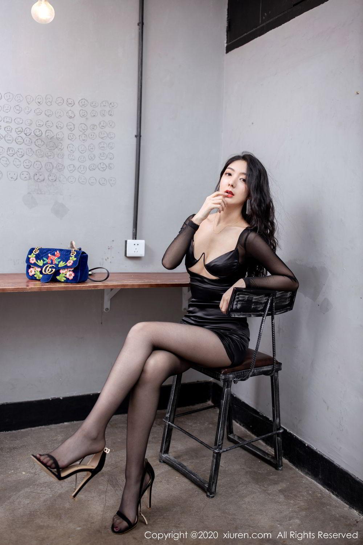 [XiuRen] Vol.1999 Xiao Re Ba 30P, Black Silk, Di Yi, Underwear, Xiuren