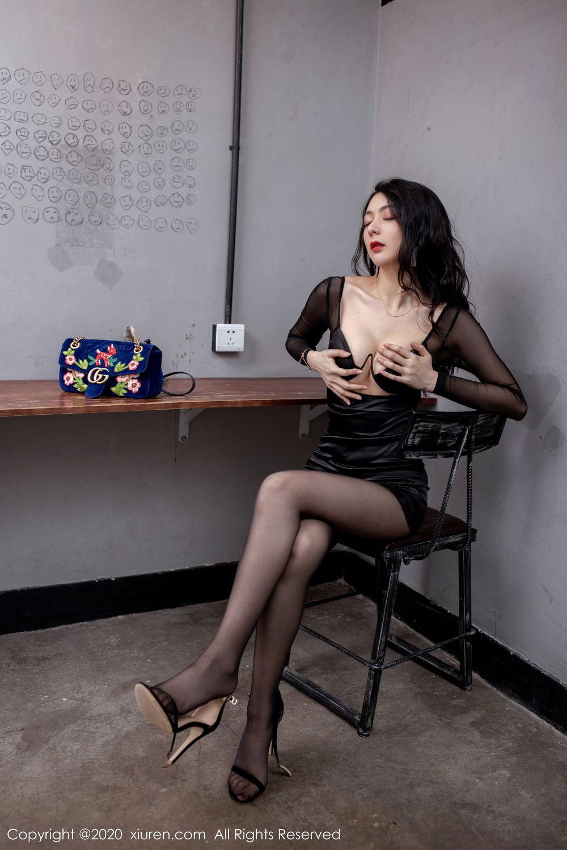 [XiuRen] Vol.1999 Xiao Re Ba 32P, Black Silk, Di Yi, Underwear, Xiuren