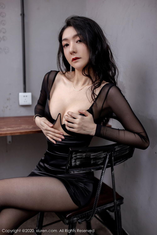 [XiuRen] Vol.1999 Xiao Re Ba 33P, Black Silk, Di Yi, Underwear, Xiuren