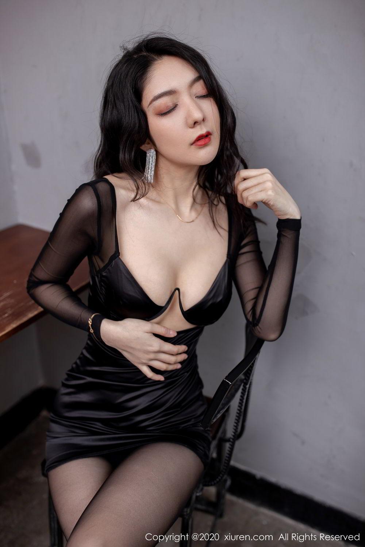 [XiuRen] Vol.1999 Xiao Re Ba 35P, Black Silk, Di Yi, Underwear, Xiuren