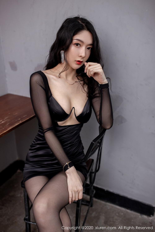 [XiuRen] Vol.1999 Xiao Re Ba 36P, Black Silk, Di Yi, Underwear, Xiuren