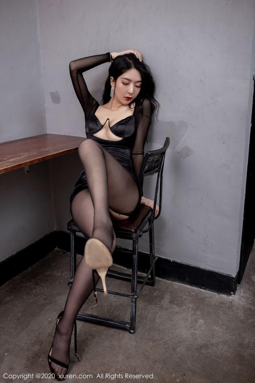 [XiuRen] Vol.1999 Xiao Re Ba 39P, Black Silk, Di Yi, Underwear, Xiuren