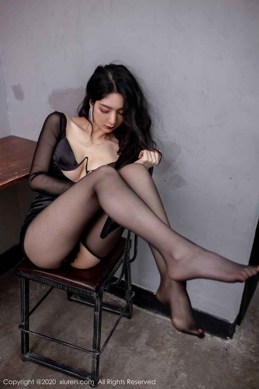 [XiuRen] Vol.1999 Xiao Re Ba 41P, Black Silk, Di Yi, Underwear, Xiuren
