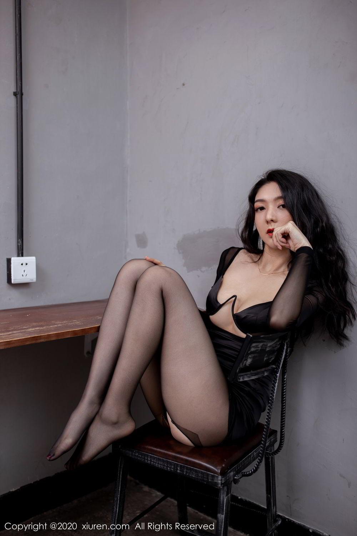 [XiuRen] Vol.1999 Xiao Re Ba 43P, Black Silk, Di Yi, Underwear, Xiuren