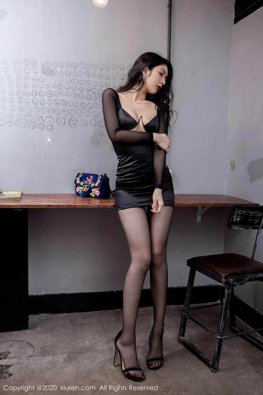 [XiuRen] Vol.1999 Xiao Re Ba 45P, Black Silk, Di Yi, Underwear, Xiuren