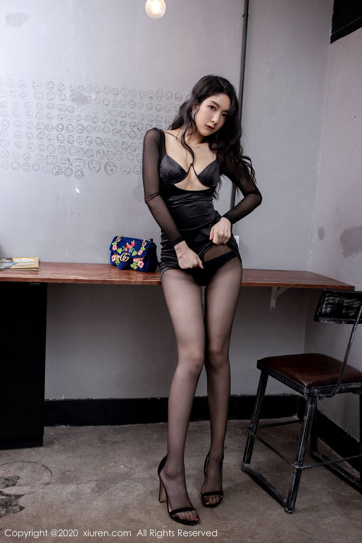 [XiuRen] Vol.1999 Xiao Re Ba 46P, Black Silk, Di Yi, Underwear, Xiuren