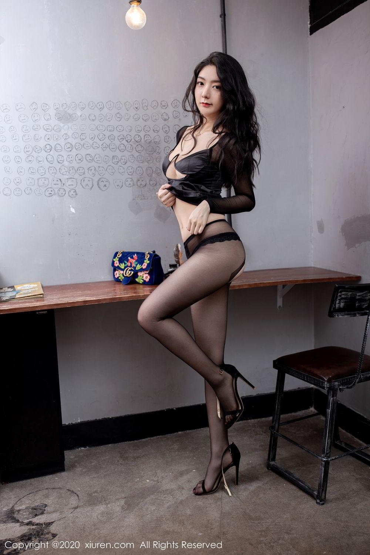 [XiuRen] Vol.1999 Xiao Re Ba 48P, Black Silk, Di Yi, Underwear, Xiuren
