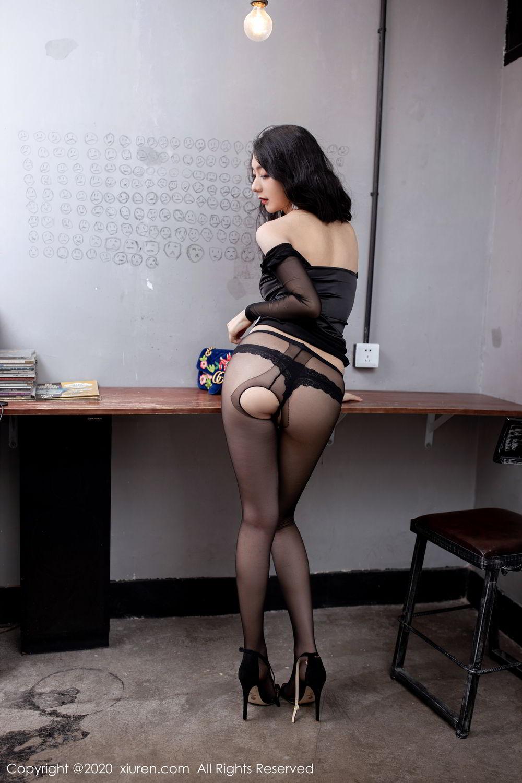 [XiuRen] Vol.1999 Xiao Re Ba 49P, Black Silk, Di Yi, Underwear, Xiuren