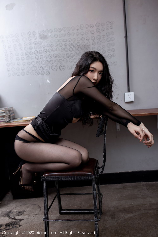 [XiuRen] Vol.1999 Xiao Re Ba 51P, Black Silk, Di Yi, Underwear, Xiuren