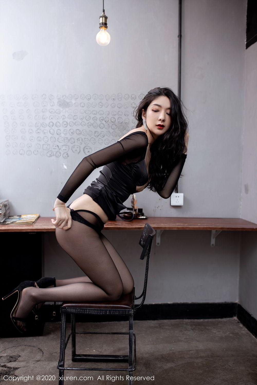[XiuRen] Vol.1999 Xiao Re Ba 54P, Black Silk, Di Yi, Underwear, Xiuren