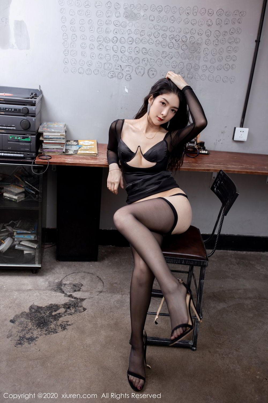 [XiuRen] Vol.1999 Xiao Re Ba 55P, Black Silk, Di Yi, Underwear, Xiuren